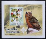 Poštovní známka Guinea-Bissau 2005 Sovy a houby DELUXE neperf. Mi# 3237 B Block