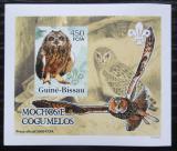Poštovní známka Guinea-Bissau 2005 Sovy a houby DELUXE neperf. Mi# 3240 B Block