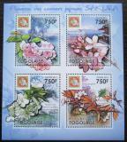 Poštovní známky Togo 2011 Třešeň Mi# 4064-67 Kat 12€