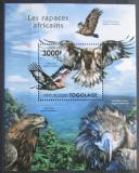 Poštovní známka Togo 2011 Dravci Mi# Block 633 Kat 12€