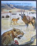 Poštovní známka Togo 2011 Fauna pouště Kalahari Mi# Block 637 Kat 12€