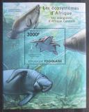 Poštovní známka Togo 2011 Fauna středoafrických mangrovníků Mi# Block 639 Kat 12€