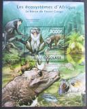 Poštovní známka Togo 2011 Fauna konžské pánve Mi# Block 648 Kat 12€