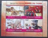 Poštovní známky Togo 2010 Čínský nový rok, rok tygra Mi# 3584-87 Kat 12€