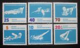 Poštovní známky DDR 1962 ME v plavání Mi# 907-12