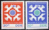 Poštovní známky DDR 1965 Mírový kongres v Helsinkách Mi# 1122-23