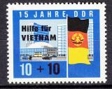 Poštovní známka DDR 1965 Pomoc Vietnamu Mi# 1125