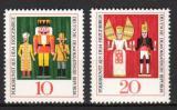 Poštovní známky DDR 1967 Lidové umění Mi# 1333-34