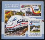 Poštovní známka Mosambik 2015 Evropské moderní lokomotivy Mi# Block 1051 Kat 10€