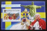 Poštovní známka Guinea 2015 Papež Jan Pavel II. Mi# Block 2519 Kat 14€