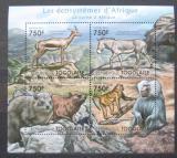 Poštovní známky Togo 2011 Fauna jihoafrického mysu Mi# 4213-16 Kat 12€
