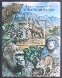 Poštovní známka Togo 2011 Ohrožená fauna Mi# Block 635 Kat 12€