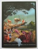 Poštovní známka Guinea 2012 Fauna západní Afriky, adax Mi# Block 2088 Kat 18€