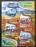 Poštovní známky Guinea 2015 Africké lokomotivy Mi# 11473-76 Kat 16€