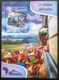 Poštovní známka Guinea 2015 Africké lokomotivy Mi# Block 2591 Kat 16€