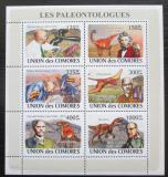 Poštovní známky Komory 2009 Paleontologové Mi# 1960-65 Bogen Kat 11€
