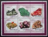Poštovní známky Guinea-Bissau 2001 Minerály Mi# 1528-33 Bogen Kat 7€