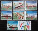 Poštovní známky Paraguay 1986 Lodě a Socha svobody s kupónem Mi# 4003-09