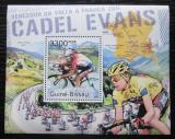Poštovní známka Guinea-Bissau 2011 Cyklistika, Cadel Evans Mi# Block 957 Kat 12€