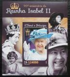 Poštovní známka Svatý Tomáš 2016 Královna Alžběta II. Mi# Block 1158 Kat 12€