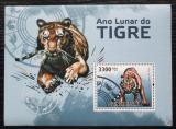 Poštovní známka Guinea-Bissau 2010 Čínský nový rok, rok tygra Mi# Block 814 Kat 13€