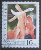 Poštovní známka Slovensko 1995 Umění, Mikuláš Galanda Mi# 244