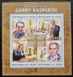 Poštovní známky Niger 2013 Garri Kasparov, šachy Mi# 2167-70 Kat 10€