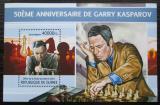 Poštovní známka Guinea 2013 Garri Kasparov, šachy Mi# Block 2215 Kat 16€