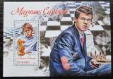 Poštovní známka Svatý Tomáš 2013 Magnus Carlsen, šachy Mi# Block 930 Kat 10€