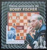 Poštovní známka Niger 2013 Bobby Fischer, šachy Mi# Block 183 Kat 10€