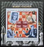 Poštovní známky Niger 2013 Bobby Fischer, šachy Mi# 2212-15 Kat 12€