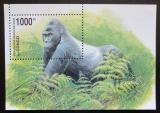 Poštovní známka Kongo Dem. 2002 Gorila východní nížinná Mi# Block 117 Kat 10€
