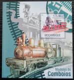 Poštovní známka Mosambik 2013 Parní lokomotivy Mi# Block 792 Kat 10€