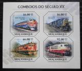 Poštovní známky Mosambik 2011 Lokomotivy 20. století Mi# 4662-65 Kat 11€