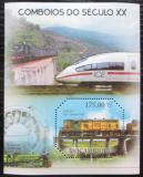 Poštovní známka Mosambik 2011 Lokomotivy 20. století Mi# Block 466 Kat 10€