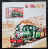 Poštovní známka Niger 2013 Parní lokomotivy Mi# Block 201 Kat 10€