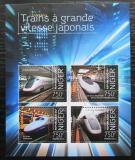 Poštovní známky Niger 2013 Moderní lokomotivy Mi# 2641-44 Kat 12€