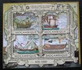 Poštovní známky Mosambik 2013 Středověké plachetnice Mi# 6308-11 Kat 13€