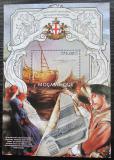 Poštovní známka Mosambik 2013 Středověké plachetnice Mi# Block 712 Kat 10€