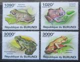 Poštovní známky Burundi 2011 Žáby Mi# 2062-65 Kat 9.50€