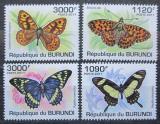 Poštovní známky Burundi 2011 Motýli Mi# 2118-21 Kat 9.50€