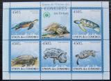 Poštovní známky Komory 2009 Želvy Mi# 2340-44 Kat 10€