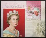 Poštovní známka Svatý Tomáš 2013 Královna Alžběta II. Mi# Block 856 Kat 10€