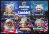 Poštovní známky Guinea-Bissau 2013 Královna Alžběta II. Mi# 6766-70 Kat 14€