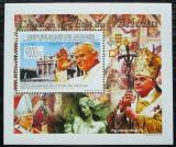 Poštovní známka Guinea 2009 Papež Jan Pavel II. DELUXE Mi# 6680 Block