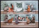 Poštovní známky Guinea-Bissau 2010 Domácí kočky Mi# 4575-79 Kat 14€