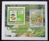 Poštovní známka Guinea 2009 Houby na známkách DELUXE Mi# 7024 Block