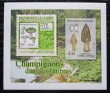 Poštovní známka Guinea 2009 Houby na známkách DELUXE Mi# 7028 Block