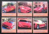 Poštovní známky Guinea-Bissau 2001 Automobily Ferrari Mi# 1755-60 Kat 9€