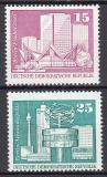 Poštovní známky DDR 1973 Výstavba v DDR Mi# 1853-54